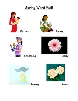 Spring Word Wall List