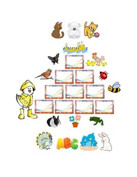 Spring Word Wall Number Recognition Color Recognition 2 Cut and Paste Options