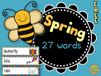 Spring - Word Wall Vocabulary (27 words)