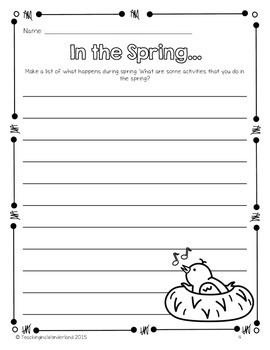 Spring Word Wall Words