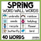 Spring Word Wall Words {FREE} #kinderfriends