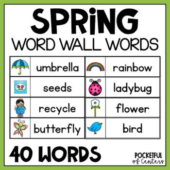 Free word walls resources lesson plans teachers pay teachers spring word wall words free sciox Gallery