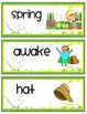 Word Wall  {Illustrated Spring Words}