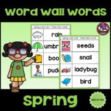 Spring Word Wall Words Freebie