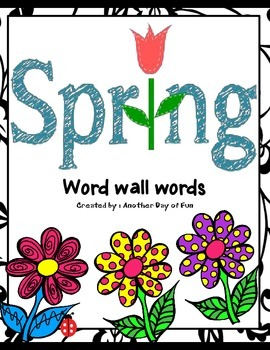 Spring Word Wall Words-vocabulary for spring
