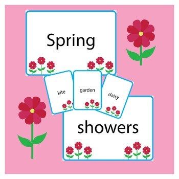 Spring Word Wall and Playing Cards