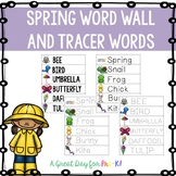 Spring Word Wall and Tracer Words