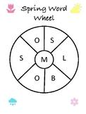 Spring Word Wheel