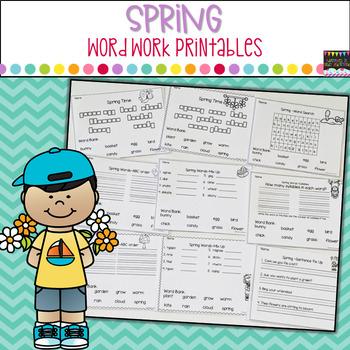 Spring Word Work