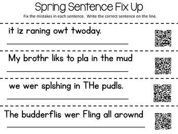 Spring Word Work Activities