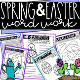 Spring Word Work Activities for Easter - NO PREP - Use with any Word List