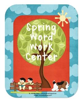 Spring Word Work Center
