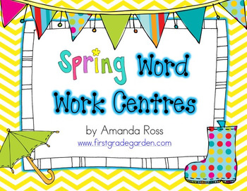Spring Word Work Centres
