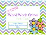 Spring Word Work Games