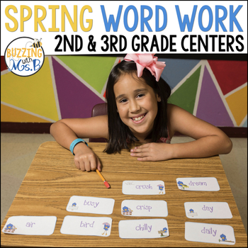 Spring Word Work Pack: Rhyming, Syllables, Parts of Speech, ABC
