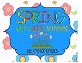 Spring Word Work Packet
