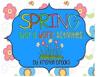 Spring Word Work Packet