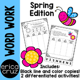 Spring Word Work and Literacy Center Activity