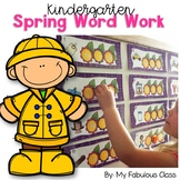 Spring Word Work for Kindergarten