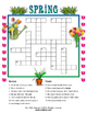Spring Word search, Crossword, and Writing worksheet