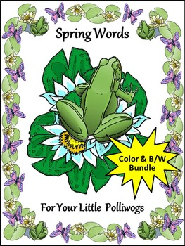 Spring Activities: Spring Words Flash-card Set Activity Packet Bundle