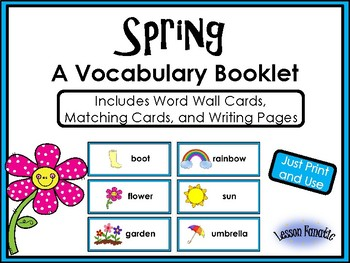 Spring Words: A Writing Booklet