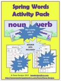 Spring Words Activity Pack