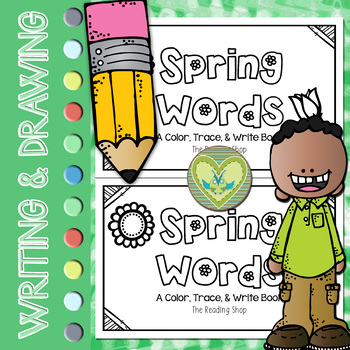 Spring Words Book - Color, Trace, & Write