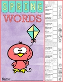 Spring Words Cut & Paste Book FREE