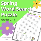 Spring Words - Fun Word Search Puzzle for Grades 2, 3, 4