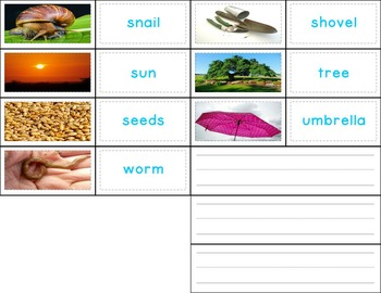 Spring Activities Writing Photo Cards (Kindergarten and First Grade)