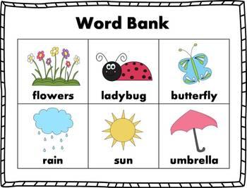 Spring Words Stamp Book