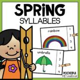 Spring Syllables Clip Cards