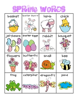 Spring Words Writing Pack!