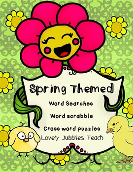 Spring Wordsearch and Crossword Puzzles