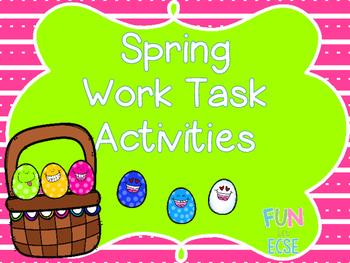 Spring Work Task Activities