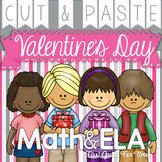 Valentine's Day Cut and Paste ELA and Math