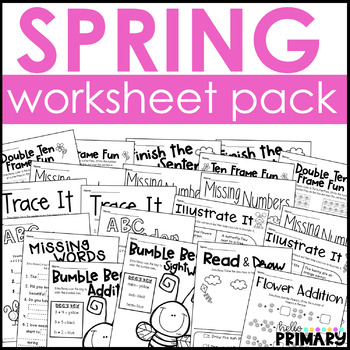 FREE Spring Worksheets
