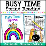 Spring Reading Worksheets | Send Home Packet