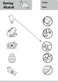 Spring Worksheets Age 3-4