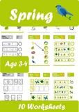 Spring Worksheets Age 3-4