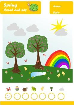 Spring Worksheets Age 4-5