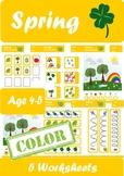 Spring Worksheets Age 4-5 Color