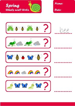 Spring Worksheets Age 6-7 Color