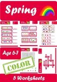 Spring Worksheets Age 6-7 Color
