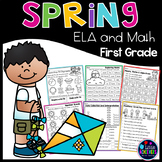 Spring Math and Literacy Worksheets First Grade: Fun Activities