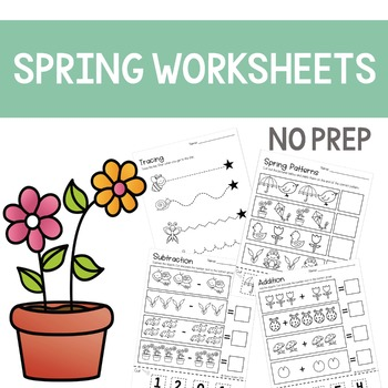 Spring Worksheets No Prep