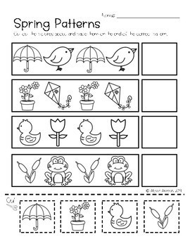 Spring Worksheets No Prep Great for Distance Learning