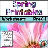 Spring Worksheets Pre-K and Kindergarten