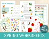 Spring Worksheets, Spring Themed Learning Pack,  Math, Lit